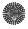 Beautiful flower in black and white vector image