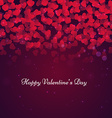 beautiful valentines day card vector image vector image