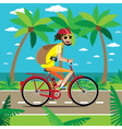 Bicycler travels vector image vector image