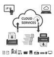 big data icons set cloud computing vector image vector image