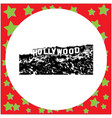 black 8-bit hollywood sign isolated vector image vector image