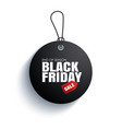 black friday sale tag circle banner on the rope vector image