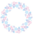 blue and rose color abstract bubble wreath vector image