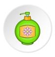 Bottle of cream icon cartoon style vector image vector image