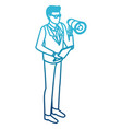 businessman with bullhorn vector image vector image