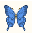 butterfly in pastel colors in graphic style vector image