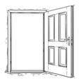 cartoon of open wooden door vector image