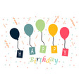 celebration birthday party design logo vector image vector image