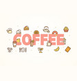 coffee banner with color thin line icon vector image vector image