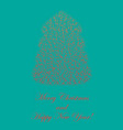 colored fir tree shape with lush needles vector image vector image