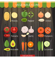 Colorful Vegetables Icon Set vector image vector image