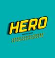 comics style font design super hero alphabet vector image vector image