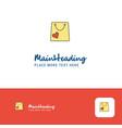 creative shopping bag logo design flat color logo vector image vector image