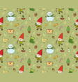 cute cartoon gnomes new year s funny pattern vector image vector image