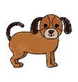 cute dog pet icon vector image vector image