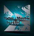 cyber monday sale colorful background vector image vector image