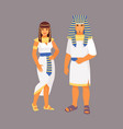 egyptian costume vector image vector image
