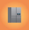 electric fridge icon kitchen equipment home vector image