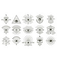 evil doodle eye hand drawn magic witchcraft eye vector image vector image