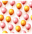 festive color balloon party background texture vector image