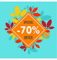 final autumn offer sale background flat style vector image vector image