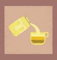 flat shading style icon coffee carton of milk vector image