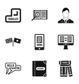Foreign language icons set simple style vector image vector image