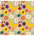 Fruits and berries seamless pattern 3 vector image