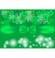 green background with clovers vector image vector image
