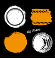 grunge off road tire stamp vector image
