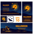 halloween banners set for social networks vector image
