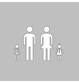 Happy Family computer symbol vector image vector image