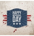 Happy Memorial Day paper Banner with Text vector image vector image