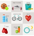 Healthy lifestyle concept icons set vector image vector image