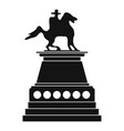 horse statue icon simple style vector image