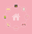 house and icon interior poster vector image vector image