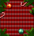 knitted red christmas ornamental background vector image