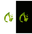 leaf and face logo template vector image vector image