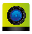 lents professional camera focus vector image vector image