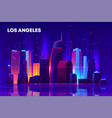 Los angeles night city with neon illumination