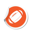 Map pointer with american football icon vector image vector image