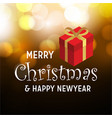 merry christmas and happy new year gift item vector image