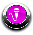 Mic 3d round button vector image vector image