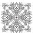 ornamental mandala linear ornament pattern vector image vector image