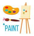 paint icon art brush isolated flat vector image