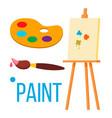 Paint icon art brush isolated flat