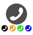 phone number flat icon vector image vector image