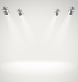 Photorealistic bright stage with spot lights vector image vector image