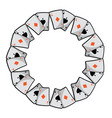 poker card aces round shape playing design vector image vector image