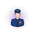 Policemen comics icon vector image vector image
